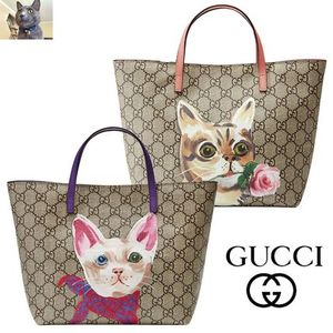 【GUCCI】Children's GG Supreme cat トート バッグ 2色