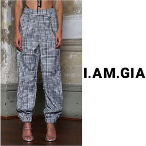 【I.AM.GIA】新作!人気のチェーン付きCOBAIN PANTチェック柄