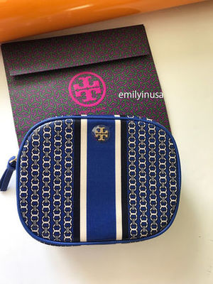 即発 TORY BURCH★Gemini Link Cosmetic Case 34399