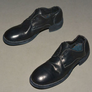 GUIDI 792Z HORSE LEATHER DERBY SHOES BLUISH BLACK