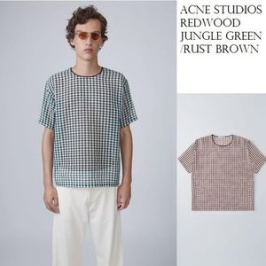 Acne Redwood woven T-shirt アーカイブチェックシャツ2色