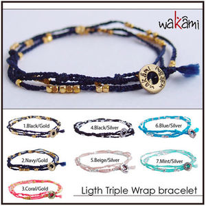 送込■ロンハーマン■wakami■light triple wrap bracelet