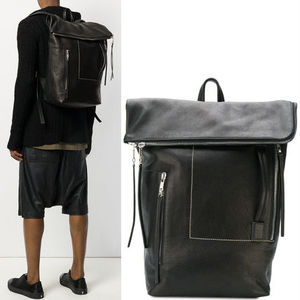 18SS RO175 FLAP BACKPACK WITH CONTRAST STITCH