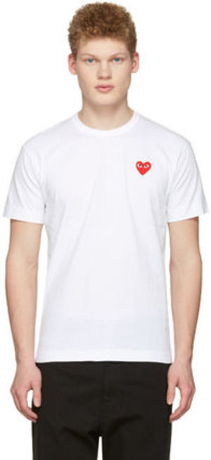 COMME DES GARCONS PLAY ハートパッチTシャツ