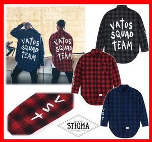 韓国人気【STIGMA】☆VST OVERSIZED WOOL CHECK SHIRTS ☆3色★