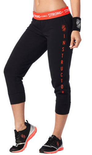 イントラ専用♪STRONG By Zumba Cropped Skinny Sweatpants-BK
