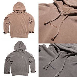 TOME.1 VELCRO PIGMENT BROWN HOODIE★国内発