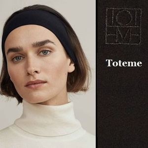 【関税送料込】今が旬◆toteme◆Black◆Yours headband