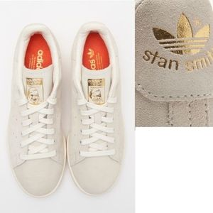 サイズ限定★ADIDAS ORIGINALS☆STAN SMITH GOLD スエードBA7441