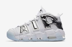 国内発送!送料関税込み MORE UPTEMPO WHITE/CHROME - BLUE TINT
