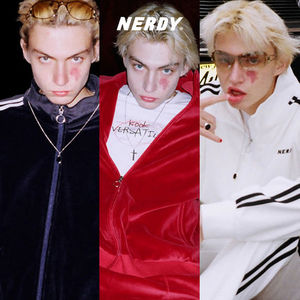 ★NERDY★ [LIMITED] Velour Track Top