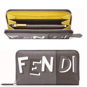 FENDI Zip-Around Logo Wallet