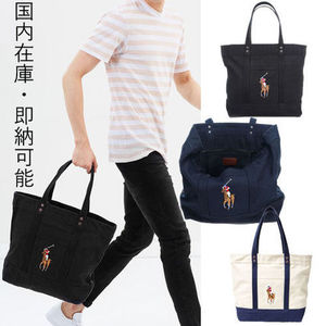 国内在庫・即納可能Ralph Lauren Canvas Big Pony Tote