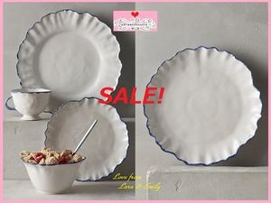 最終SALE☆即納★在庫限り【Anthro】Ruffled Rim Side Plate