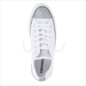 CONVERSE★All Star White Sparkle Toe OX (大人気)