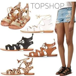 ◇◆TOPSHOP◆◇全5色♪本革 FIG Lace-Up Sandals