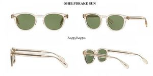 【Oliverpeoples】SHELDRAKE SUN (Buff+Green C Mineral Glass)