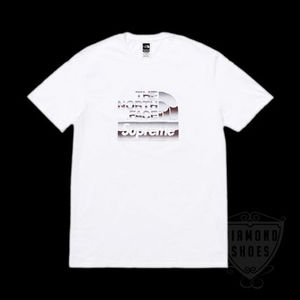 SS18 SUPREME THE NORTH FACE METALLIC LOGO T SHIRT WHITE S-XL