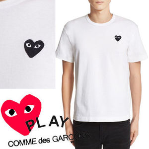 ● COMME des GARCONS PLAY ●ワンポイント 黒ハート Tee 白