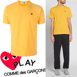 ● COMME des GARCONS PLAY ●ワンポイント 黒ミニハート 黄色