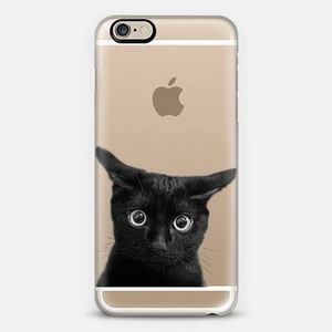 *casefity*What are you looking 猫ちゃん クリア iPhoneケース