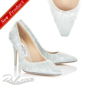 注目コラボ【Jimmy Choo×Off White】ANNE 100 TPU×Satin Pumps