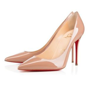 国内発 CHRISTIAN LOUBOUTIN Decollete 554 ヌード ヒール 10cm