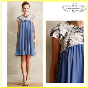 【Anthropologie】Carraway Embellished Swing Dress