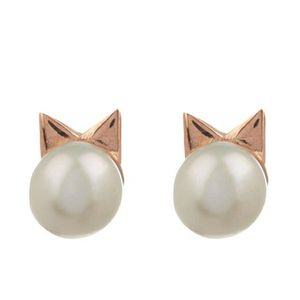 新作♡関税込【Aamaya】Kitty Pearl Earrings