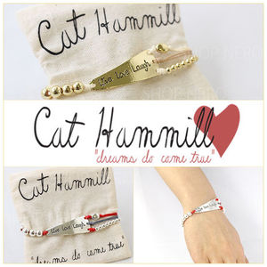 国内即発!CAT HAMMILL LIVE beaded cord ブレス w13/金・銀