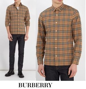 送料関税込価格!★Burberry ★Classic check-pattern shirt