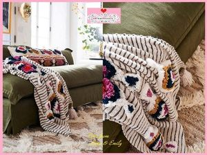 18AW*最安値保証*関送込【Anthro】Tufted Ayla Throw Blanket