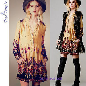 ★セール即発★FREE PEOPLE L/S Sierra Valley Printed Dress★