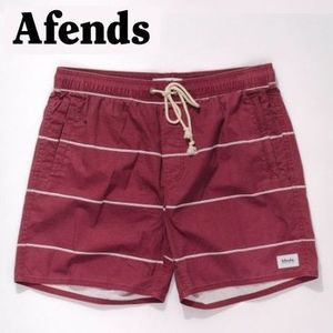 AFENDS【アフェンズ】Baywatch Oxblood Stripe ボードショーツ
