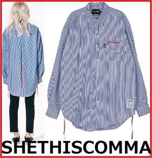 SHETHISCOMMA★正規品★HIP ROCK STRIPE SHIRTS シャツ/追跡付