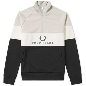 ★FRED PERRY EMBROIDERED PANEL SWEAT 関税込★