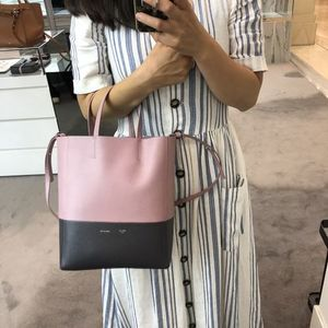 【CELINE】18/19AW新作 SMALL CABAS (Antique Rose/ Licorice)