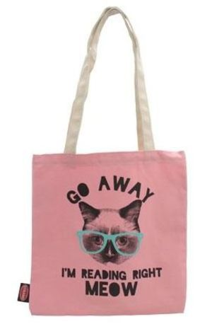 NY人気No.1★送料込み★STRAND Tote: Pink Reading Right Meow