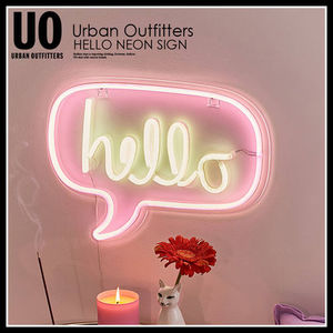 即納★URBAN OUTFITTERS HELLO NEON SIGN ライト★42639575-068