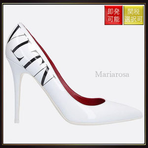 【ヴァレンティノ】Vltn Patent Leather Pumps White With