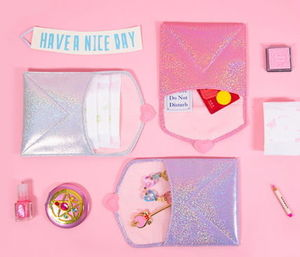 [Bentoy]ベントイ Heart square pouch Pink/Purple/Silver