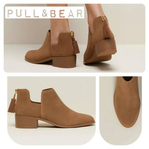 【期間限定】PULL & BEAR♪CUT OUT ANKLE BOOTS★