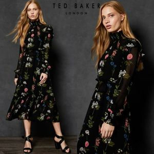 2018 AW 新作★TED BAKER★SIMARRA 花柄 ロング ワンピース