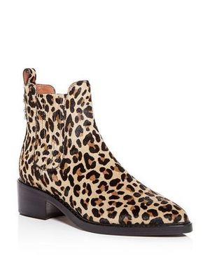CoachレオパードブーティーBowery Chelsea Bootie