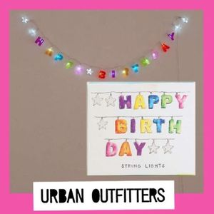 Urban Outfitters☆電池式バースデーライトHAPPY BIRTHDAY