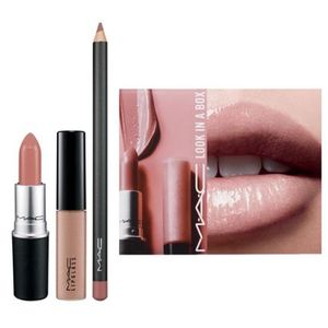 限定☆MAC☆Look in a Box☆Pretty Natural☆リップ3点キット