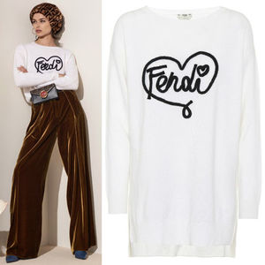 FE2236 LOOK25 OPEN YOUR HEART CASHMERE KNIT SWEATER