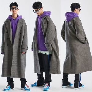 EMS発送 [ATTENTIONROW] HANDMADE HIDE DOUBLE WOOL LONG COAT