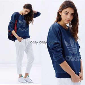 【adidas/originals】Track Denim Sweatshirt/スウェット