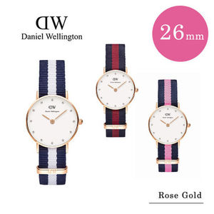 Daniel Wellington 26MM Rose Gold Cotton Belt